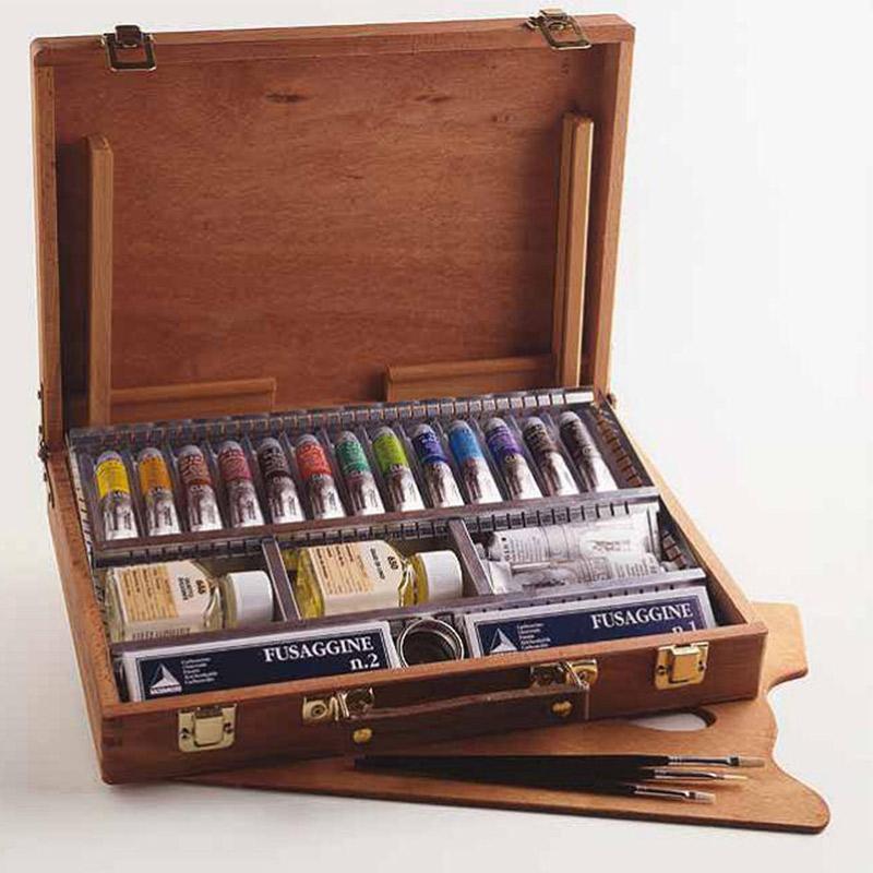 Confezione colori ad olio maimeri colorificio manzoni for Colori ad olio professionali