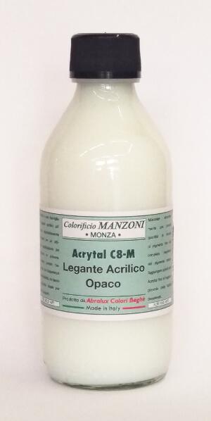 Legante acrilico opaco acrytal c8 m 100ml colorificio for Colorificio monza