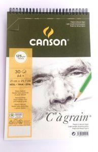 """Blocco Canson """"C"""" à grain A4 125 gr."""